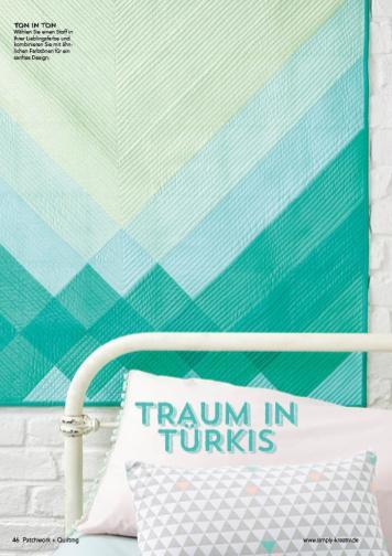 Nähanleitung - Traum in Türkis - Patchwork 04/2018