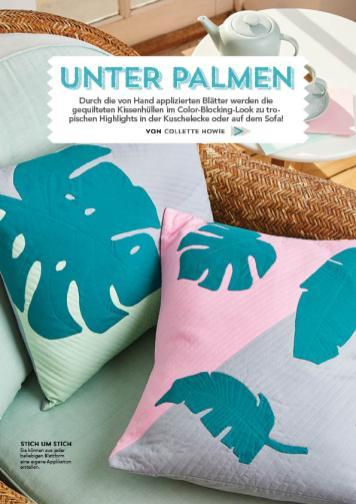 Nähanleitung - Unter Palmen - Patchwork 04/2018