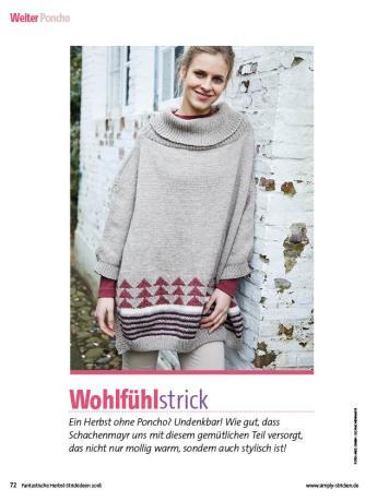 Strickanleitung - Wohlfühlstrick - Fantastische Herbst-Strickideen - 04/2018