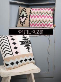 Häkelanleitung - Pastell-Kissen - Simply Kreativ Fair Isle Häkeln 01/2018