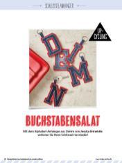 Nähanleitung - Buchstabensalat - Simply Kreativ Geschenkideen + Accessoires Näh-Sonderheft 01/2018
