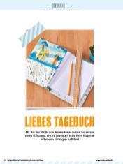Nähanleitung - Liebes Tagebuch - Simply Kreativ Geschenkideen + Accessoires Näh-Sonderheft 01/2018