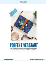 Nähanleitung - Perfekt verstaut - Simply Kreativ Geschenkideen + Accessoires Näh-Sonderheft 01/2018