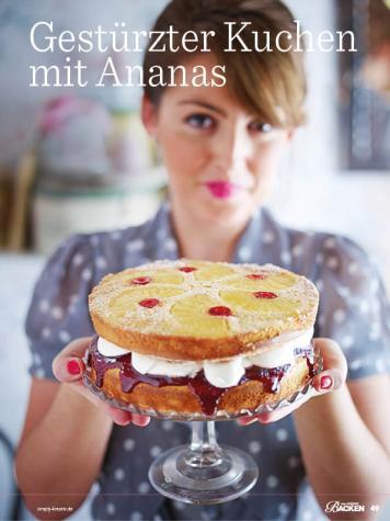 Rezept - Gestürzter Kuchen mit Ananas - Das große Backen - 09/2018