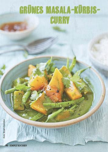 Rezept - Grünes Masala-Kürbis-Curry - Simply Kochen Suppen & Eintöpfe 01/2018
