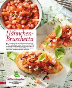 Rezept - Hähnchen-Bruschetta - Simply Kochen mini – Rezepte für den Thermomix® 05/18