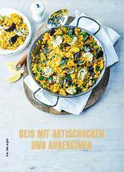 Rezept - Reis mit Artischocken und Auberginen - Simply Kochen Mediterran 05/2018