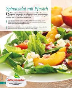 Rezept - Spinatsalat mit Pfirsich - Simply Kochen mini – Rezepte für den Thermomix® 05/18