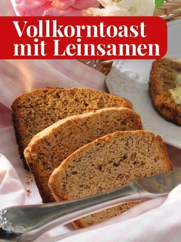 Rezept - Vollkorntoast mit Leinsamen - Simply Kreativ - Brot backen - Sonderheft - 01/2019