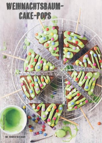Rezept - Weihnachtsbaum-Cake-Pops - Simply Kochen Special Weichnachtsgebäck - 01/2018
