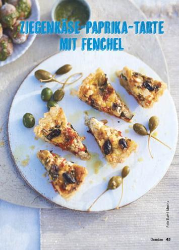 Rezept - Ziegenkäse-Paprika-Tarte - Simply Kochen Mediterran 05/2018