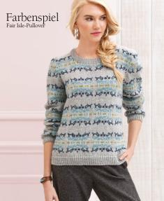 Strickanleitung - Farbenspiel - Fair Isle Pullover - Designer Knitting - 06/2018