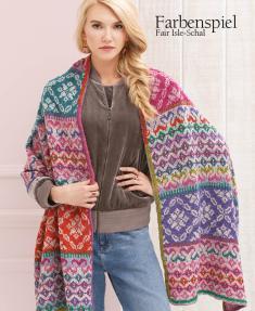 Strickanleitung - Farbenspiel - Fair Isle Schal - Designer Knitting - 06/2018