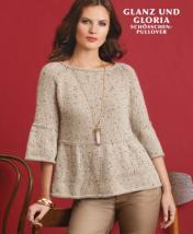 Strickanleitung - Glanz und Gloria - Schößchen-Pullover - Designer Knitting - 06/2018