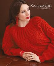 Strickanleitung - Kronjuwelen - Roter Pullover - Designer Knitting 05/2018