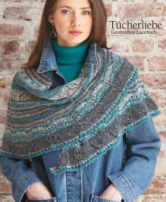 Strickanleitung - Tücherliebe - Gestreiftes Lacetuch - Designer Knitting - 06/2018