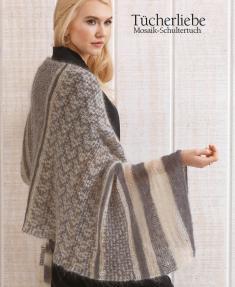 Strickanleitung - Tücherliebe - Mosaik-Schultertuch - Designer Knitting - 06/2018