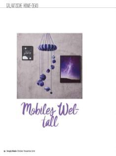 Häkelanleitung - Mobiles Weltall - Simply Häkeln - 06/2018
