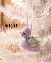 Häkelanleitung - Taube - Mini Weihnachts-Deko Häkeln Vol. 5