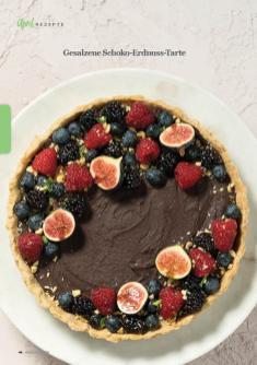 Rezept - Gesalzene Schoko-Erdnuss-Tarte - Simply Kreativ - Vegan-Guide 01/2019