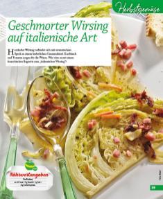 Rezept - Geschmorter Wirsing auf italienische Art - Simply Kochen mini – Rezepte für den Thermomix® 06/2018