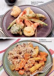 Rezept - Ingwer-Gemüse-Tempura / Goldener Gemüsestreusel - Simply Kreativ - Vegan-Guide 01/2019