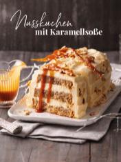Rezept - Nusskuchen mit Karamellsoße - Simply Kreativ Sonderheft Weihnachtsrezepte 01/2019