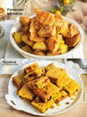 Rezept - Parmesan-Kartoffeln / Maisbrot mit Speck-Pekannuss-Füllung - Simply Kreativ Sonderheft Weihnachtsrezepte 01/2019