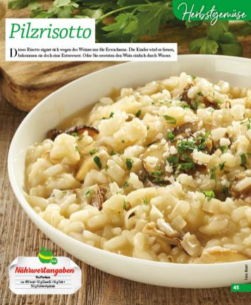 Rezept - Pilzrisotto - Simply Kochen mini – Rezepte für den Thermomix® 06/2018