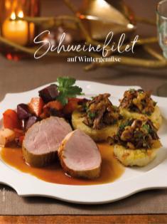 Rezept - Schweinefilet auf Wintergemüse - Simply Kreativ Sonderheft Weihnachtsrezepte 01/2019