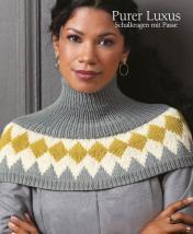 Strickanleitung - Purer Luxus - Schalkragen mit Passe - Designer Knitting 01/2019