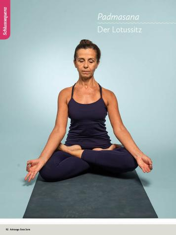 Yoga Anleitung - Padmasana - Sportplaner - Yoga Guide 01/2019