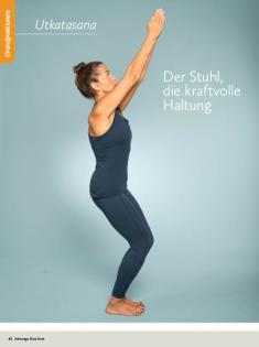 Yoga Anleitung - Utkatasana - Sportplaner - Yoga Guide 01/2019