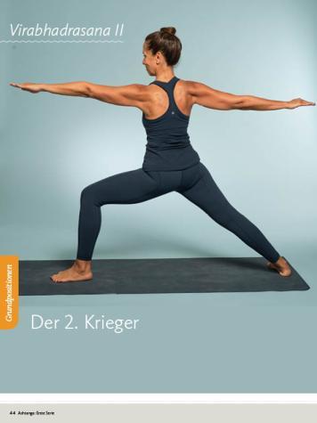 Yoga Anleitung - Virabhadrasana II - Sportplaner - Yoga Guide 01/2019