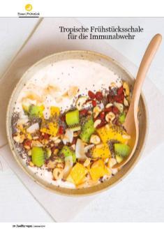 Rezept - Tropische Frühstuecksschale für die Immunabwehr - Healthy Vegan 01/2019