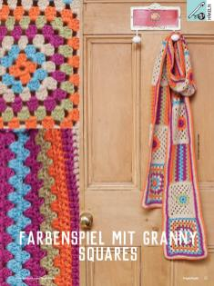 Häkelanleitung - Farbenspiel mit granny-squares - Simply Kreativ - 01/2019