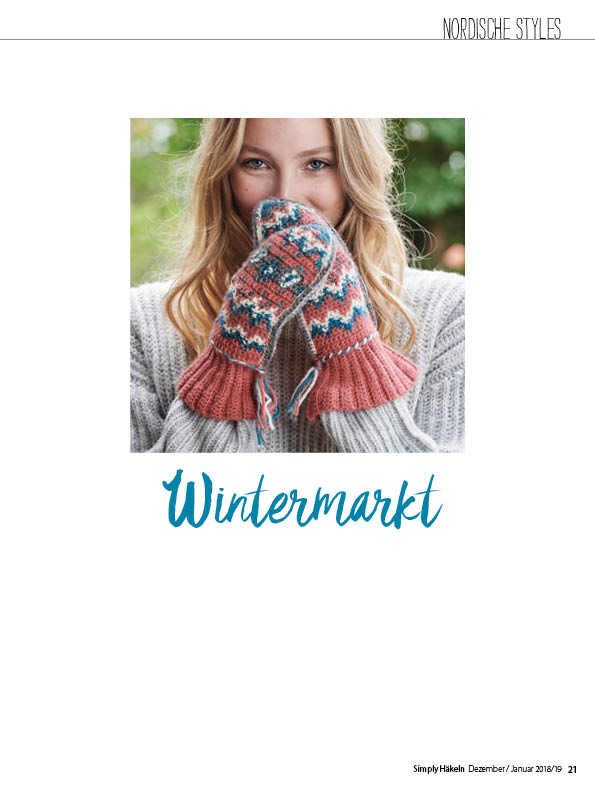 Häkelanleitung - Wintermarkt - Simply Häkeln 01/2019