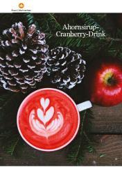 Rezept - Ahornsirup-Cranberry-Drink - Healthy Vegan 01/2019
