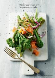 Rezept - Brokkolisalat mit Spargel und Lachs - Simply Kreativ healthy - Darm in Topform - 01/2019
