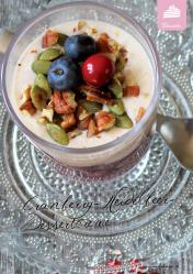 Rezept - Cranberry-Heidelbeer-Dessertcreme - Simply Kreativ Superfood 01/2019