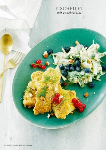 Rezept - Fischfilet mit Fenchelsalat - Simply Kreativ healthy - Darm in Topform - 01/2019