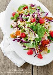 Rezept - Fischsalat mit Pfeffermakrele-Forelle und Garnele - Simply Kreativ healthy - Darm in Topform - 01/2019