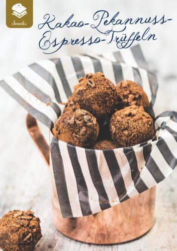 Rezept - Kakao-Pekannuss-Espresso-Trüffeln - Simply Kreativ Superfood 01/2019