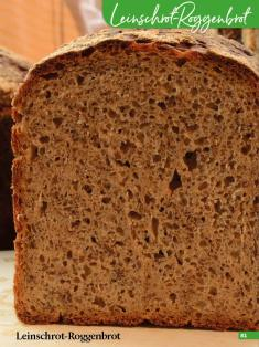 Rezept - Leinschrot-Roggenbrot - Simply Backen Sonderheft Brotdoc Vol. 2 - Heft 02/2019