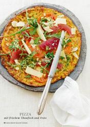 Rezept - Pizza mit frischem Thunfisch und Pesto - Simply Kreativ healthy - Darm in Topform - 01/2019