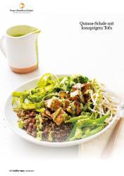 Rezept - Quinoa-Schale mit knusprigem Tofu - Healthy Vegan 01/2019