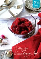 Rezept - Würzige Cranberry-Soße - Simply Kreativ Superfood 01/2019