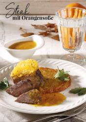 Rezept - Steak mit Orangensoße - Simply Kreativ Extra – Leckere Ideen für den Thermomix® 01/19