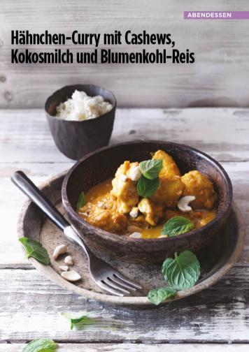 Rezept - Hähnchen-Curry mit Cashews-Kokosmilch und Blumenkohl-Reis - Simply Kreativ Healthy Diät-Sonderheft - Keto-Diät - 01/2019