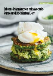 Rezept - Erbsen-Pfannkuchen mit Avocado-Pueree und pochierten Eiern - Simply Kreativ Healthy Diät-Sonderheft - Keto-Diät - 01/2019
